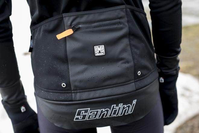 Santini Vega Extreme, dettaglio della tasca posteriore